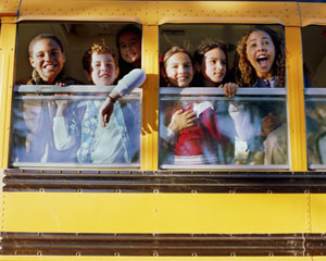 kids on bus